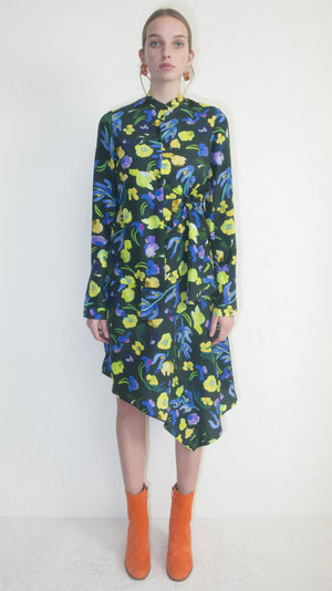 Christian Wijnants Devla Dress - Flowermix dark