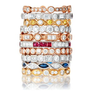 Signature Collection Stackable Eternity Bands in 18k Gold