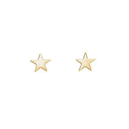 Solid 14K Gold Star Studs