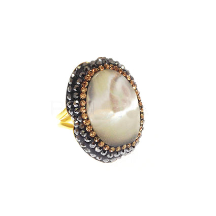 Large Mother Of Pearl Oval Ring
