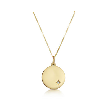 Solid 14K Gold Customisable Star Set Necklace