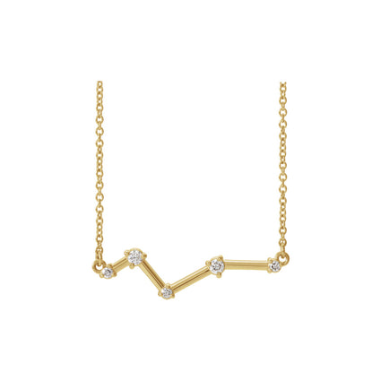 Solid 14K Gold and Diamond Constellation Necklace