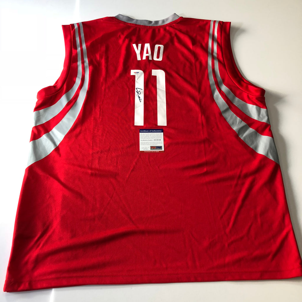 new product 5ca76 dcab3 Yao Ming signed jersey PSA/DNA Houston Rockets Autographed