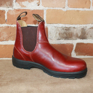 Blundstone Slip On In Premium Red Rubbed Leather-Atomic 79