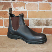 Blundstone Slip On In Stout Brown Leather-Atomic 79