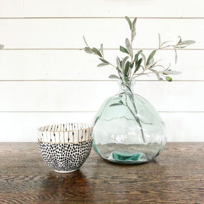 Medium Small Sea Glass Vase - Interior Delights Parker