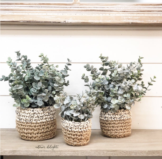 SMALL ONLY-Sweater Pot Eucalyptus