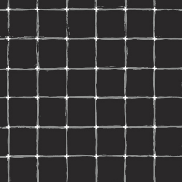 Rayon-Grid Negative/Black