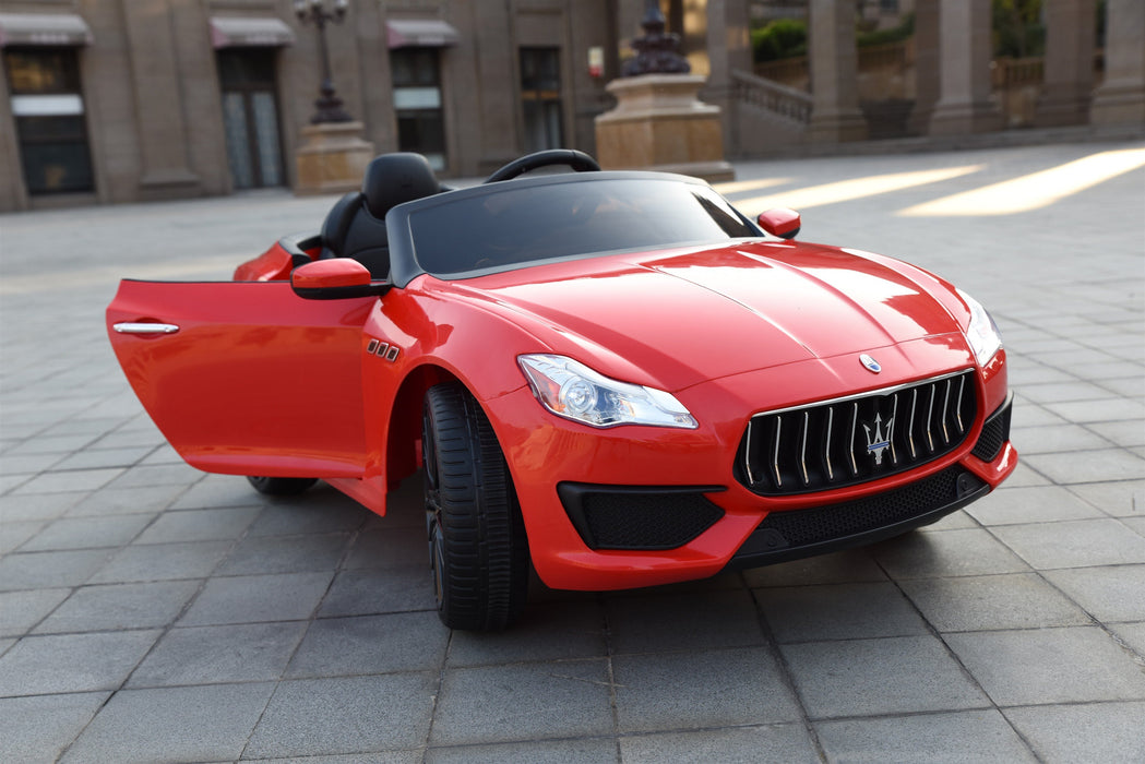 Maserati Quattroporte Licenced 12V 7A Battery Powered Kids Electric Ride On Toy Car ZLG8588 RED - GADGET EXPRESS®