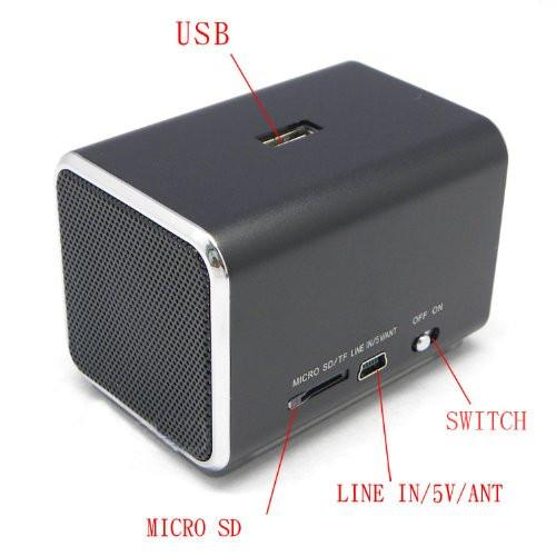 Ricco MD05X LCD DISPLAY MINI 2.0 CHANNEL Ultra Light Aluminium USB Portable Travel Speaker - GADGET EXPRESS®