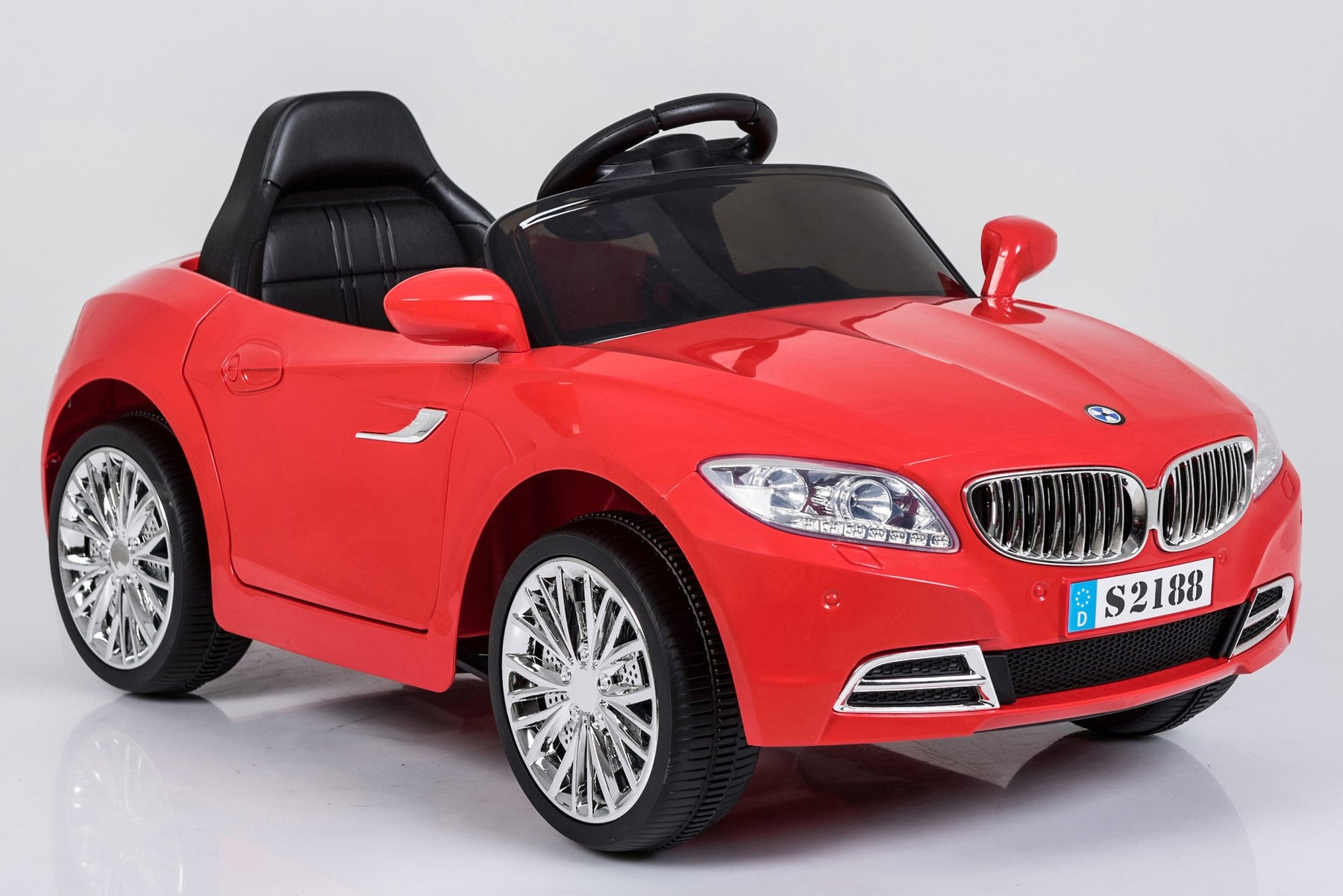 Kids 2x6V 15W TWO MOTORS Battery Powered BMW Style Electric Ride On Toy Car (Model: S2188) RED - GADGET EXPRESS®