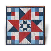 Red, White, and Blue Barn Quilt 3