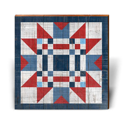 Red, White, and Blue Barn Quilt 5