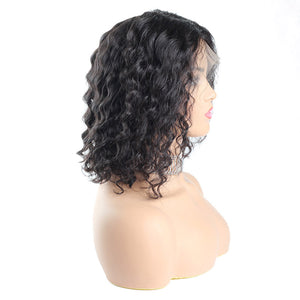 13*4 Deep Wave Short Bob Wig Lace Fro