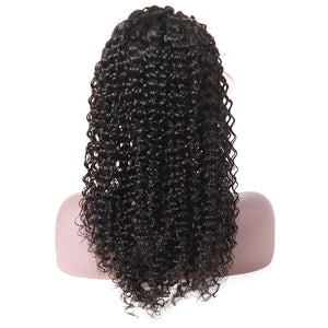 Curly Hair Lace Front Wig 100% Virgin Remy Human Hair Wigs Allove Hair : ALLOVEHAIR