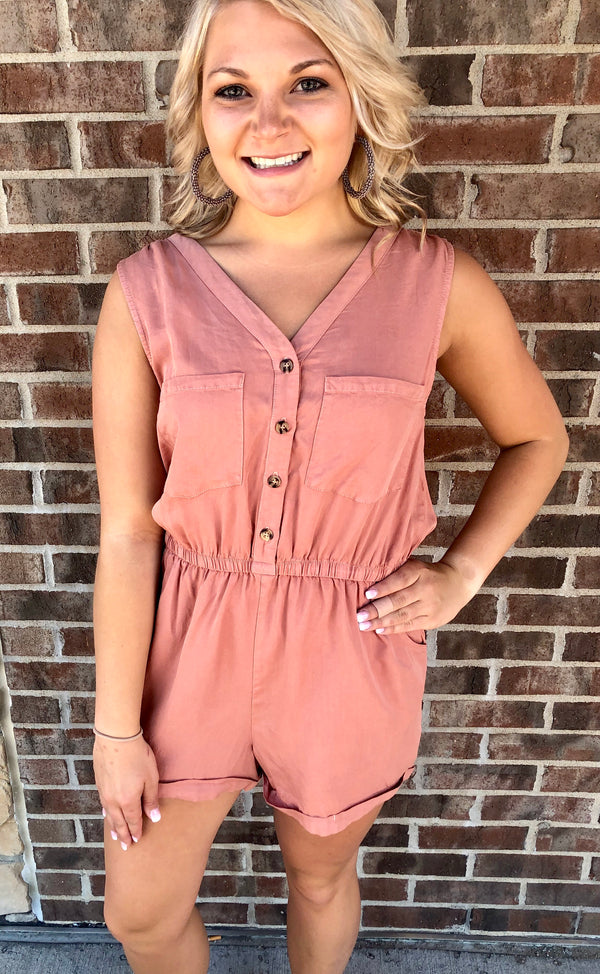 Faded Pink Romper