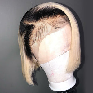 Short-Bob-Lace-Front-Human-Hair-Wigs-For Black-Women
