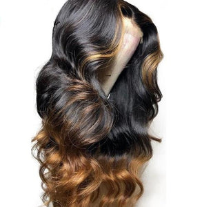 Ombre-Brazilian-Virgin-Hair-Lace-Front-Wigs