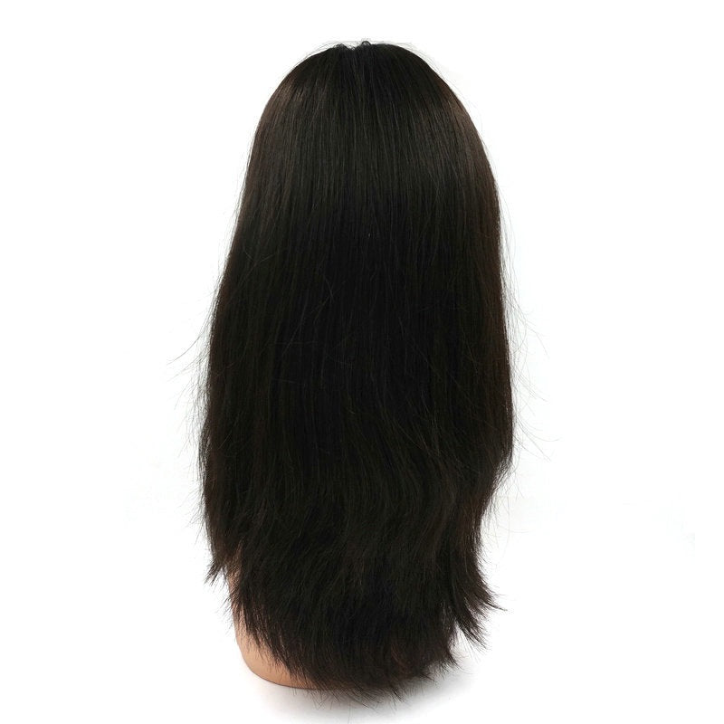 Instock 100 European Remy Hair Jewish Wig Kosher Wig Sheitel Silk Top Wigs Slight Wave Hairpiece