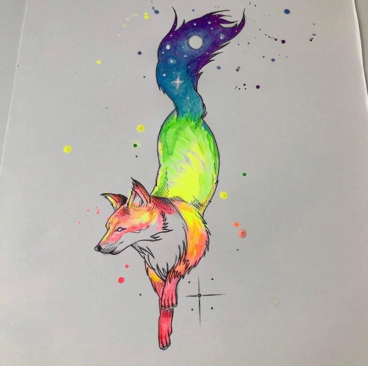 Fox Night Print