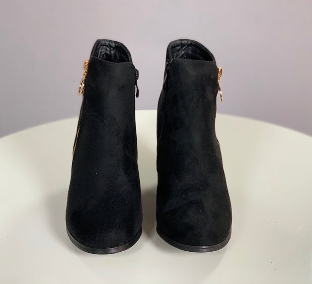 SHOES {Weeboo} Midnight Suede Booties w/ Rhinestone Detail