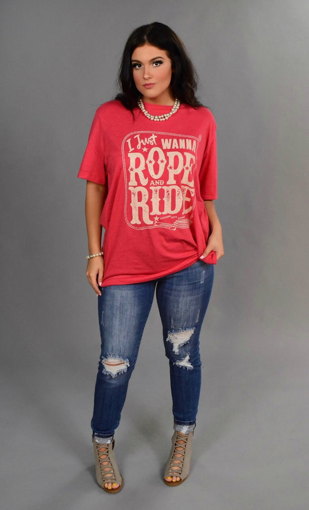 GT-A I Just Wanna Rope And Ride T-Shirt