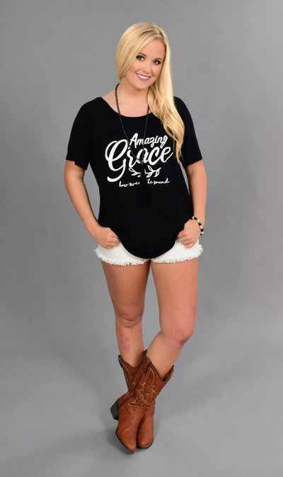 "GT-H ""AMAZING GRACE"" Black Graphic Tunic"