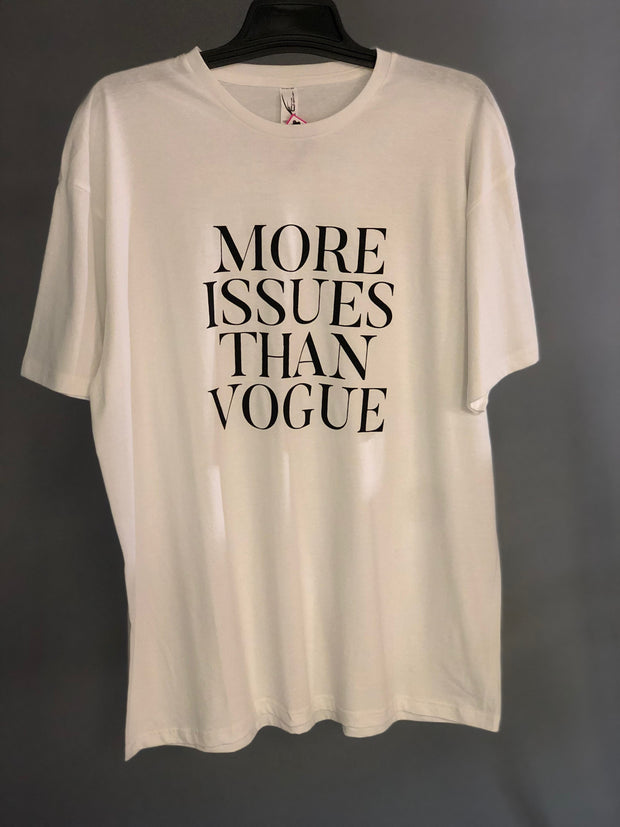 GT-B {More Issues Than Vogue} White T-Shirt