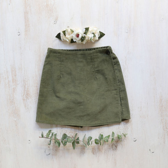 Piper & Me green Phoebe skort girls