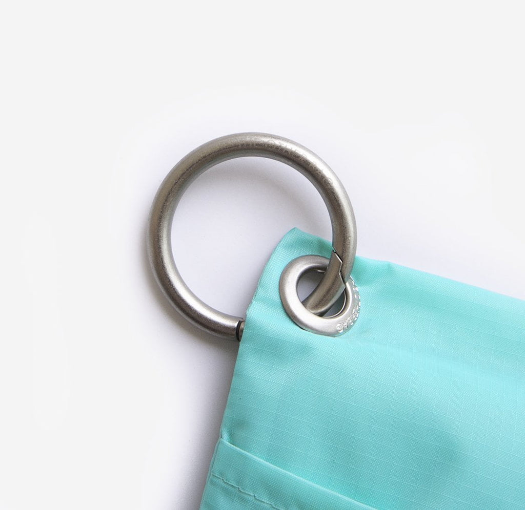 metal clip me ring attach to eco friendly shopping bag