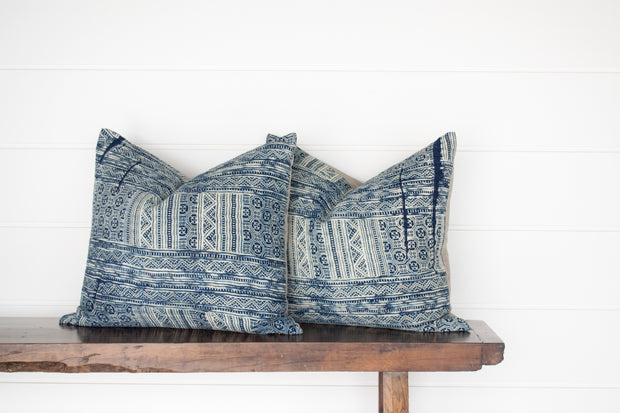 BLUE BATIK PILLOW PAIR