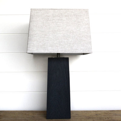 SQUARE SOLID ASH LAMP