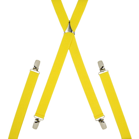 Plain Yellow Skinny Trouser Braces
