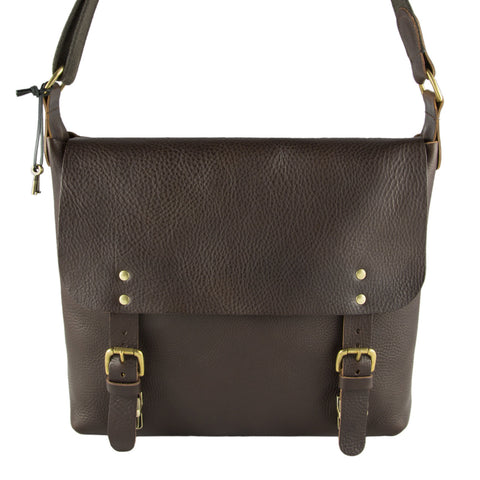 Aubrey Large Brown Leather Satchel