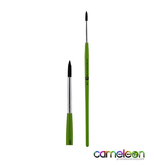 Cameleon Face Painting Brush - Liner #2 (long green handle) - Jest Paint Store