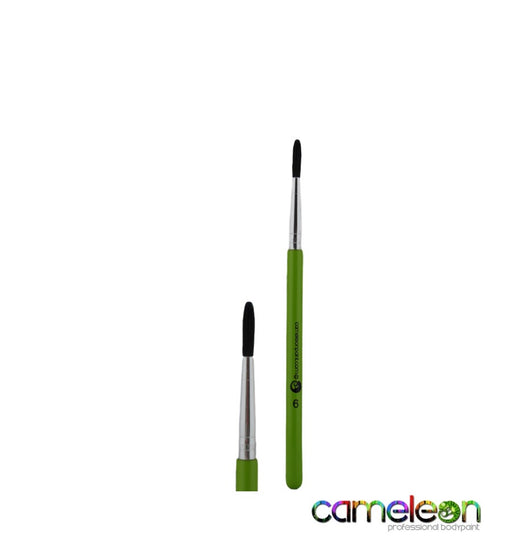 Cameleon Face Painting Brush - Round #6 (short green handle) - Jest Paint Store