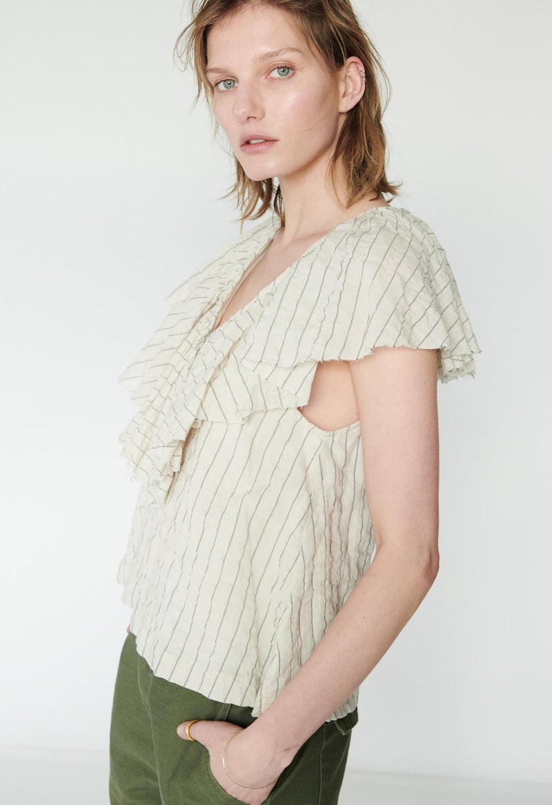 Gaeta Top in Wide Stripes