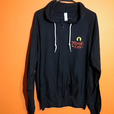 Monk's Cafe Zip Up Hoodie