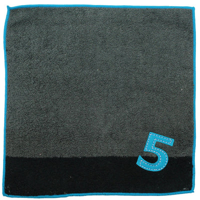 photo of the IMABARI TOWEL 【Imabari Towel】 Mama&Me Number-Color Kids Handkerchief (Length 20× Width 20cm) Dark Grey (No.5)