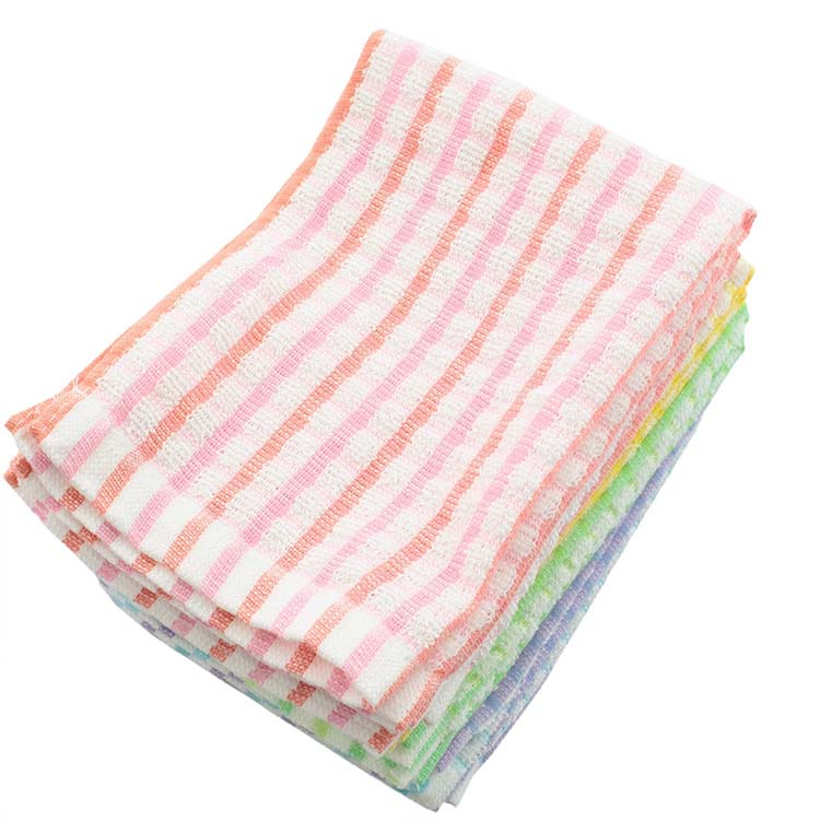 * Assorted Color 100% cotton Soft Cloth Rag - 10pc