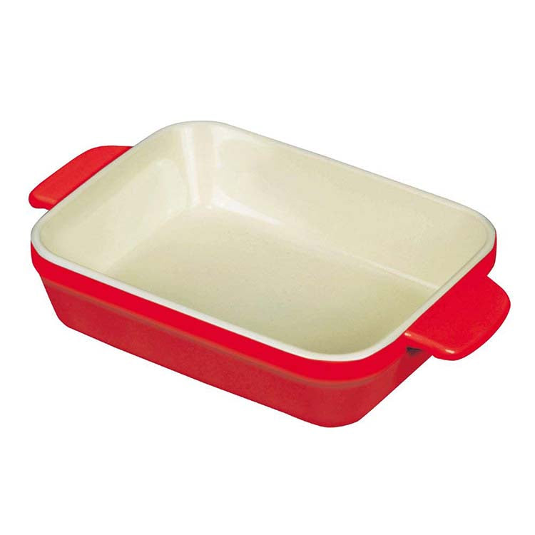 Heat-Resistant Deep-Dish Oven Tray Red Size L - 22.5 x 14.5 x 5cm