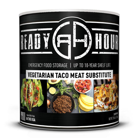 # 10 Can Ready Hour Taco Flavored Vegetable Meat Substitute