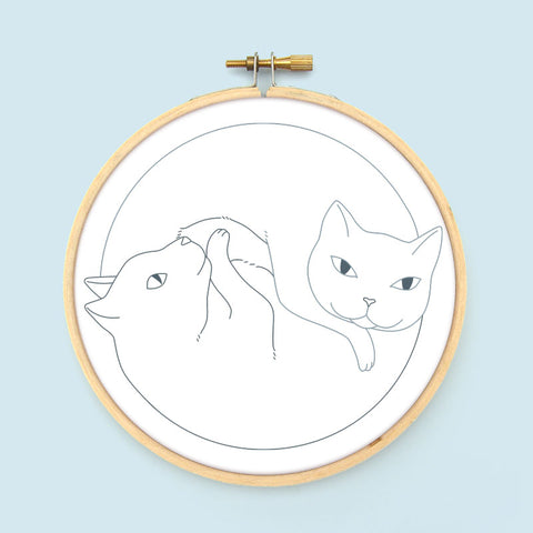 Catnaps Iron-On Embroidery Transfers
