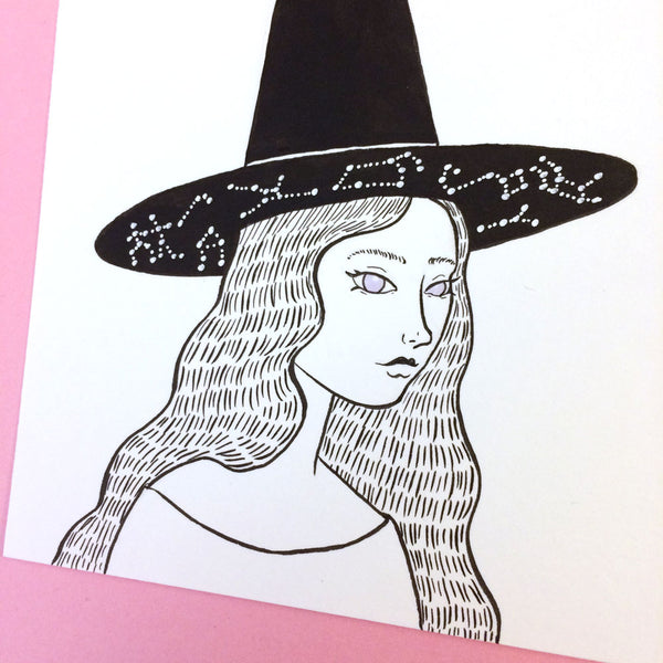 Astronomical Witch Original Drawing