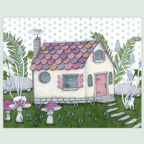 Tiny Witch's Cottage Print