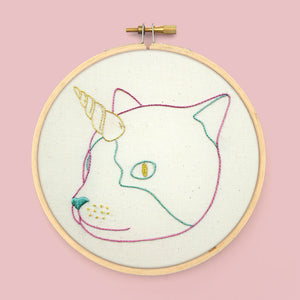 Caticorn Embroidery Pattern