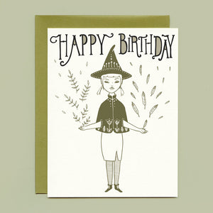 Hedge Witch Birthday Card