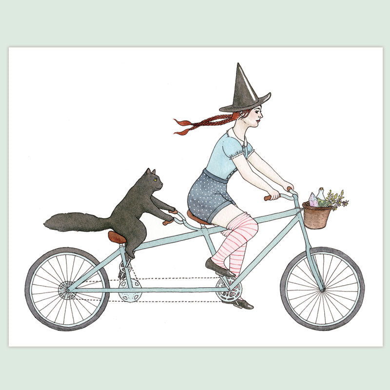 Tandem Witch Print