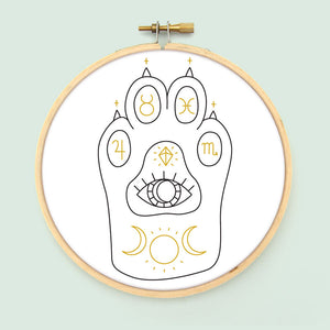 Witchcat Paw Embroidery Pattern