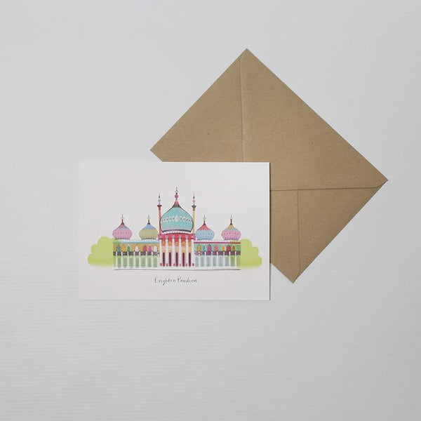 Brighton pavilion card from Ilona drew's landmark range. Beautiful and colourful